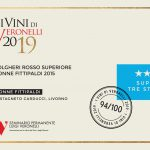 I Vini Veronelli 2019: Super Tre Stelle to our Bolgheri Rosso Superiore Donne Fittipaldi 2015